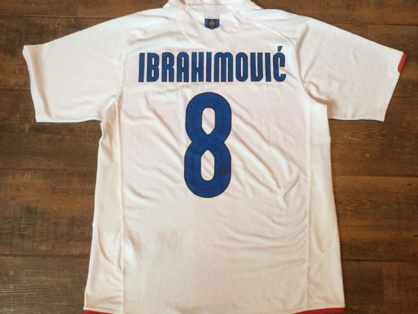 2007 2008 Inter Milan Ibrahimovic Centenary Football Shirt Adults Medium Maglia